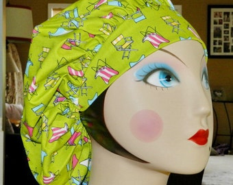Beach Chairs Banded Bouffant Surgical Cap
