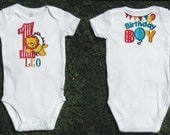 Circus First Birthday  Embroidered Lion Bodysuit for Baby Boy