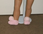 Fits 18inch dolls - Doll Slippers in Baby Pink