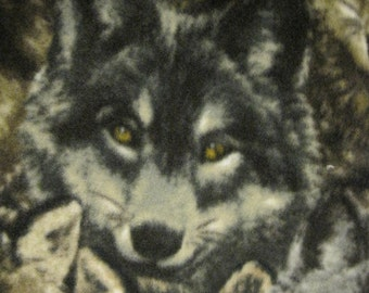 Wolves Walking on Snow in the Woods with Gray Fleece Blanket - Ready to Ship Now