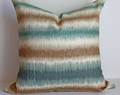 Stripe Ikat Pillow Cover / Iman Sunset / Select Your Size