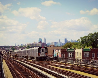 New York City Subway, 7 Train Photography Print, NYC Wall Art,