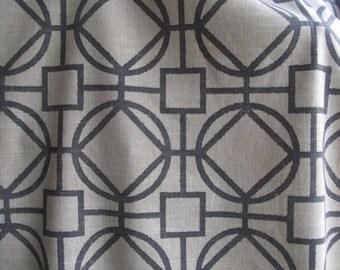 SURI Flax/Midnight Grey multipurpose fabric upholstery pillows bedding slipcovers