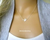 Tiny Bird Necklace - Bird Necklace - Freedom - Graduation Gift - Bridesmaids Gift - Mother Jewelry - Sister