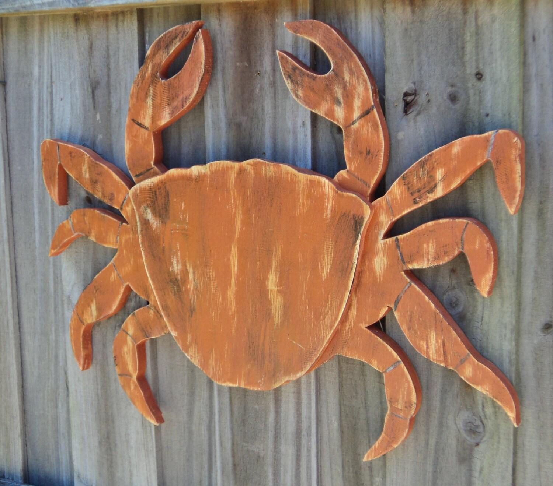 Wood Sailboat Wall Decor : Large wooden crab nautical decor beachy wall art coastal