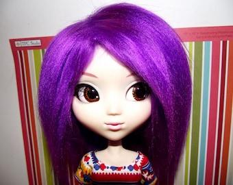 SALE Dark purple faux fur wig for Pullip / Taeyang