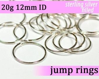 20g 12.0 mm ID silver filled jump rings -- 20g12.00 jumprings