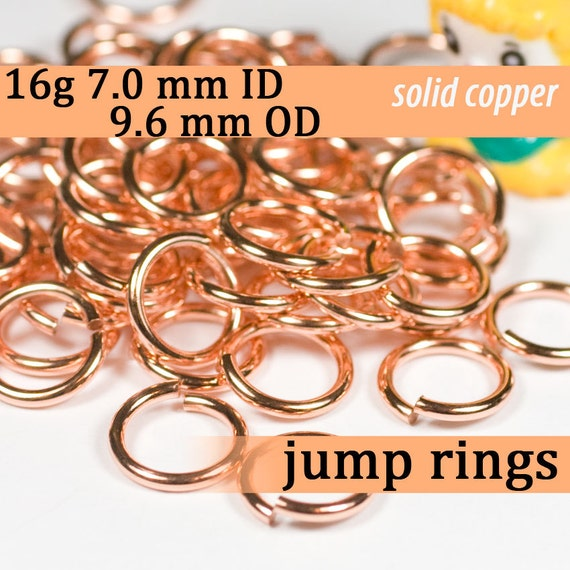 Solid Copper Jump Ring 18Ga Wire 10 MM O//D pkg.Of 150 1 Oz Saw-Cut Made In USA