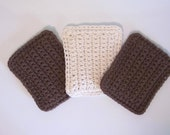 Crochet Sponge, Set of 3 Cotton Sponges