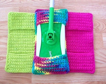 Crochet Swiffer Cover, Reusable Swiffer Cover, Set of 3 Swiffer Cover