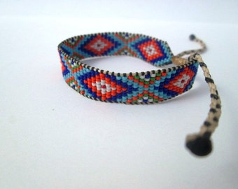 Huichol Native American Inspired Multi-Colored, Beaded Friendship Bracelet 109