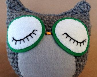 Sleeping Owl crochet doll toy // amigurumi // Large Nursery Decor