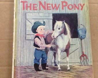 Vintage 1961 Little Golden Book The New Pony First A Edition