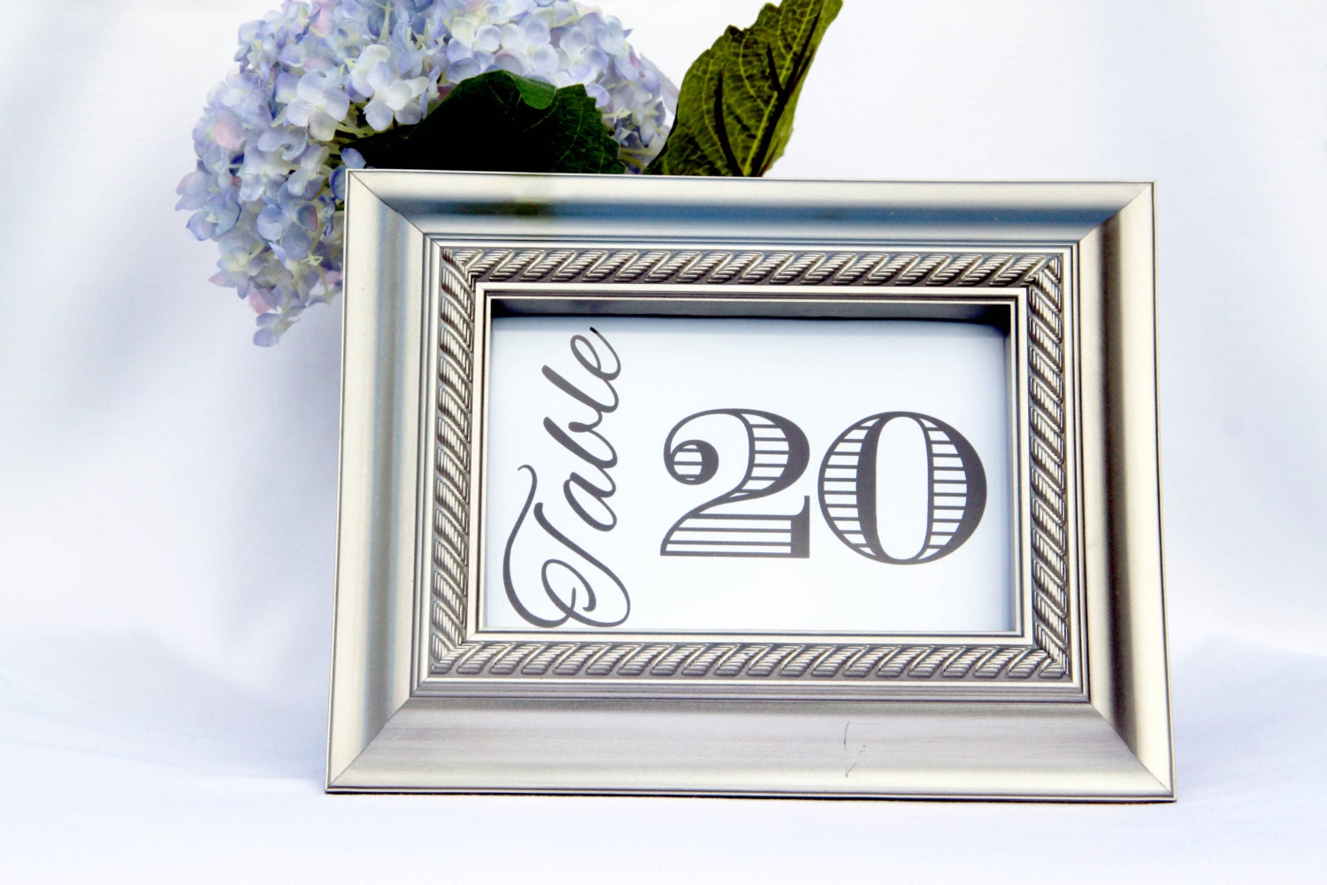 12 Wedding Reception Table Number Cards Bold Table Tents