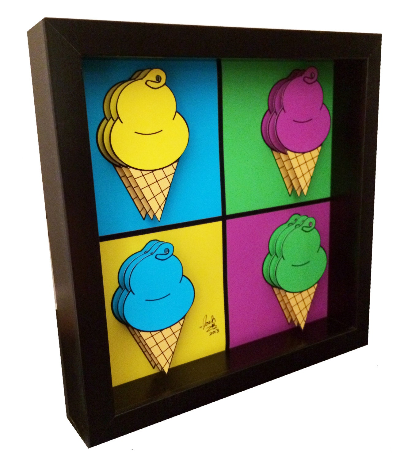 ice cream art kitchen decor 3d art andy warhol. Black Bedroom Furniture Sets. Home Design Ideas