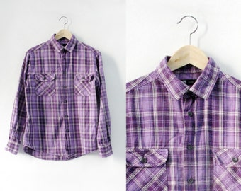 Ultra Violet Purple Grounge Tartan Shirt