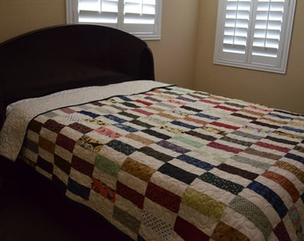 Quilt Farm Style Scrappy Queen Size Quilt Made to Order
