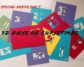 Special order 12 days of Christmas rainbow colors for T