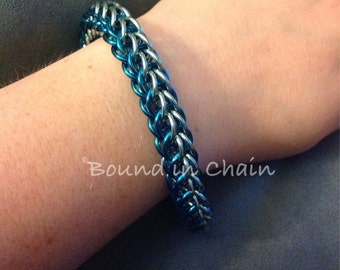 Extra Chunky Blue and Green Full Persian Bracelet