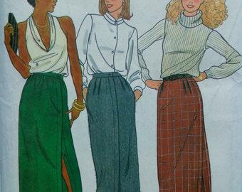 70s Front Wrap Skirt Pattern Butterick 6794 Size 14 Waist 28 UNCUT