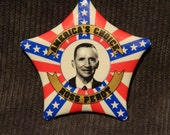 Original Vintage Star-shaped Ross Perot 1992 Political Campaign Button