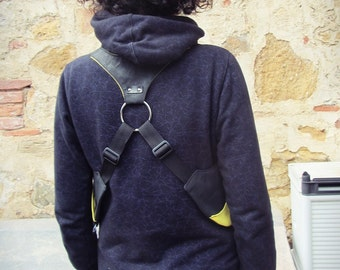 Holster bag // Black&Yellow // Adjustable