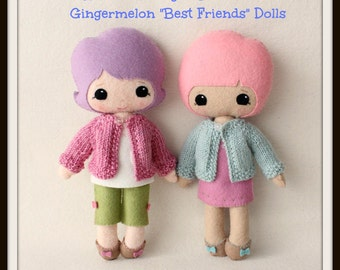 Instant Download PDF Cardigan Pattern for Gingermelon Best Friends Dolls