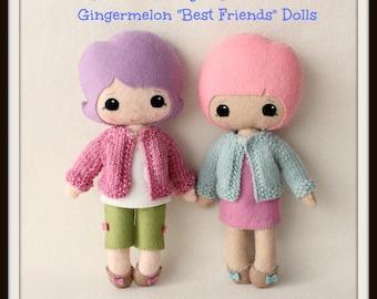 Instant Download PDF Cardigan Pattern for Gingermelon Best Friends Dolls