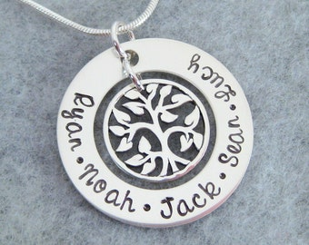 Tree of Life Family Necklace - Personalized Family Necklace - Grandma Necklace - Mother's Necklace