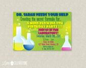 Science Birthday Invitation - Science Birthday Party Invitation - Scienctist Birthday Invitation - Scientist Party Invitation