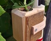 Wooden Bike Planter made of Detroit Reclaimed Lumber