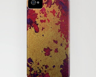 Abstract Phone Case - Gold Leaf Texture Painting - Designer iPhone Samsung Case
