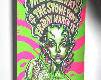 BigToe Electric Bride Screenprint Poster for Electric Frankenstein, The Damned