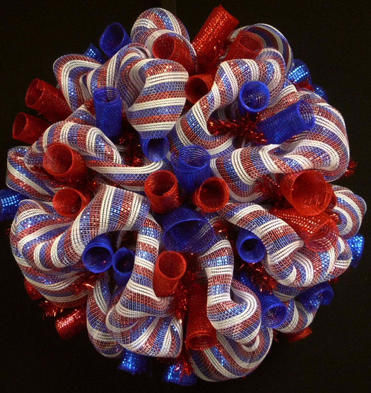Memorial Day Wreaths Mesh