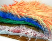 Faux Fur Mystery Grab Bag Lot destash craft supply fake monster pack fabric surprise pack assortment colorful crazy variety shaggy assorted