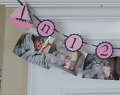 First Birthday Party Banner, Nautical,Anchor, Sailboat, Picture Banner, happy birthday, ocean theme, first birthday