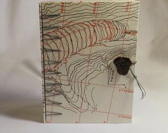 Secret Belgian Binding Journal Vintage Canadian Map, Perfect for Travel Notes, Hiking Notes, Writing, Drawing, Journalling