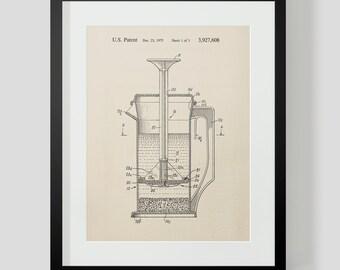 French Press Coffee Kitchen Patent Print 7