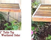CAFE' TABLE ~ Country Primitive ~ TOP Only - Weathered Cedar! - ''Table-4-Two,  Right This Way'' - 2'x2' Cedar Table Top Only!