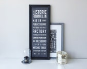 Franklin Neighborhood Poster / Large - 11.75 x 36 inches / SALE