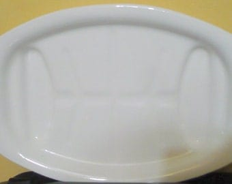 Vintage Corelle - ( Corning ) -  Cornflower Blue Meat Platter - P 19 - EUC - Read Below