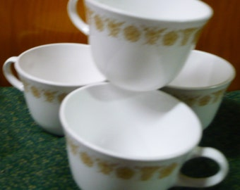 4 - Corelle -  Butterfly Gold  - Coffee Cups _ EUC - Price Is For All