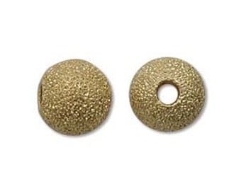 Stardust-10mm Round Beads-Gold-Quantity 12