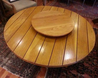 Rare Old Hickory Furniture Co. Table with marked lazy susan.