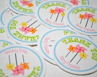 Pinwheel Sticker Labels