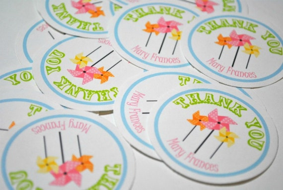 Pinwheel Sticker Labels