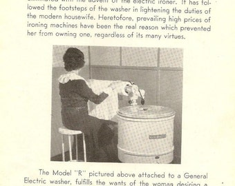 General Electric IRONERS Instructions for Operating - Great 1930s Vintage Manual