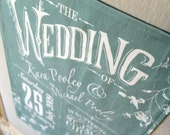 Custom Tea Towel - A Great Wedding Gift or Favours