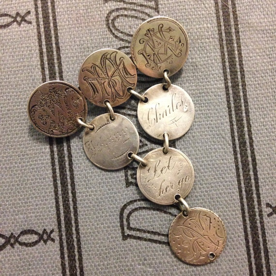 Antique 1870s Love Token Brooch