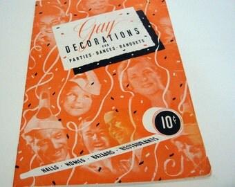 Vintage 1944 Gay Decorations Paper Book